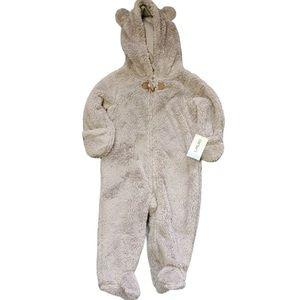 Carter's One Piece Fleece Bear Footie Body Suit